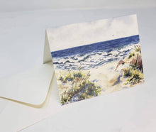 Load image into Gallery viewer, Beach Notecards Seashore Blank Cards Ocean painting beach painting ocean watercolor stocking stuffer gift for beachlover original art cards - Leigh Barry Watercolors