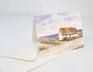 Irish Cottage Painting notecards Irish notecards Ireland landscape art Irish gift for mom stocking stuffer Ireland landscape thank you notes - Leigh Barry Watercolors