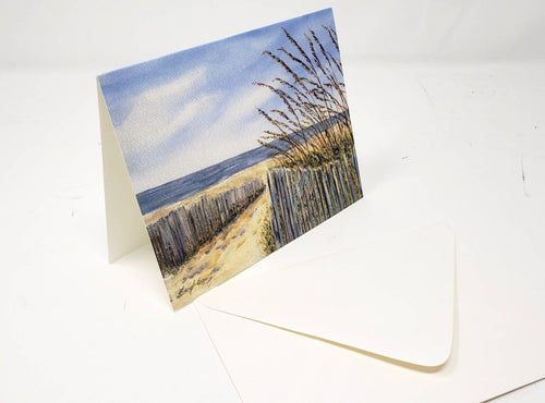Beach notecards blank greeting cards blank thank you notes Leigh Barry Watercolors cards and envelopes beach painting cards art note - Leigh Barry Watercolors