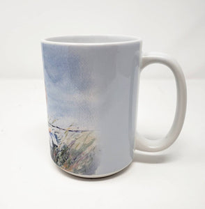 Bluebird Coffee Mug Bluebird Stoneware mug Bird art gift blue bird kitchen gift bird decor bluebird gift - Leigh Barry Watercolors