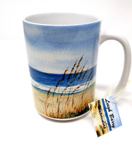 Load image into Gallery viewer, Beach Mug Beach Painting Coffee Cup Latte Mug Camp Mug Ocean Painting Beach Decor Beach Gift beach house gift seashore art ocean watercolor
