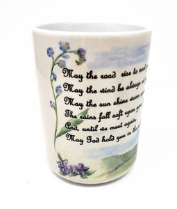 Irish Blessing Mug Irish Coffee Mug Irish gift Ireland gift Irish Cottage Painting Ireland Landscape art Irish gift for mom camp mug latte - Leigh Barry Watercolors
