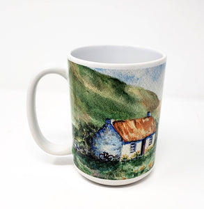 Irish Mug Ireland mug Irish Coffee Mug Latte Mug Camp Mug Ireland gift Irish Cottage Irish gift Ireland watercolor painting Irish art Celtic - Leigh Barry Watercolors