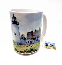 Load image into Gallery viewer, Pemaquid Lighthouse Maine Mug Maine Painting art gift Maine gift Maine lighthouse Mug watercolor print - Leigh Barry Watercolors