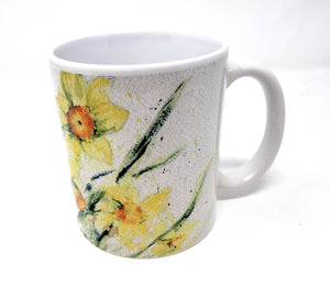 Daffodil Mug Watercolor Painting Coffee Mug Daffodil Painting Yellow flowers mug yellow kitchen decor camp cup latte mug  camper mug