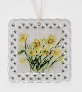 Daffodils Ornaments Spring Ornaments - Leigh Barry Watercolors
