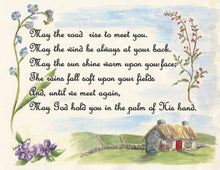 Load image into Gallery viewer, Irish Blessing print Irish gift framed Irish blessing Irish wall art Ireland landscape painting framed Irish art - Leigh Barry Watercolors