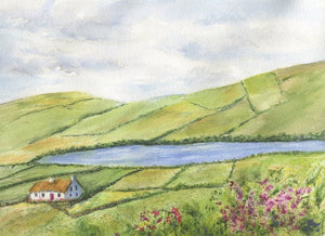 Irish Countryside 2 Ireland Landscape Painting Ireland print or original watercolor Irish art Celtic Art Ireland painting framed Irish print - Leigh Barry Watercolors