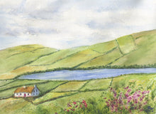 Load image into Gallery viewer, Irish Countryside 2 Ireland Landscape Painting Ireland print or original watercolor Irish art Celtic Art Ireland painting framed Irish print - Leigh Barry Watercolors