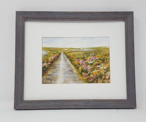 Irish Road: Irish landscape Ireland landscape print Irish road print Irish art original Ireland painting framed Ireland print framed irish - Leigh Barry Watercolors