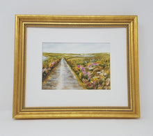 Load image into Gallery viewer, Irish Road: Irish landscape Ireland landscape print Irish road print Irish art original Ireland painting framed Ireland print framed irish - Leigh Barry Watercolors