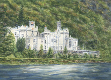 Load image into Gallery viewer, Kylemore Abbey Ireland Connemara Ireland Galway Irish Painting Ireland Art Irish Gift Ireland Gift Framed Art Ireland Landscape Print