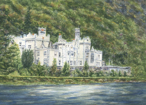 Kylemore Abbey Ireland Connemara Ireland Galway Irish Painting Ireland Art Irish Gift Ireland Gift Framed Art Ireland Landscape Print