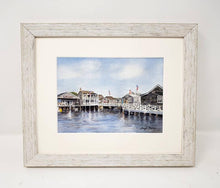 Load image into Gallery viewer, Nantucket Harbor Watercolor Painting Fine Art Prints or Original Watercolor Nantucket Painting Cottage Art Leigh Barry Watercolors Giclee - Leigh Barry Watercolors