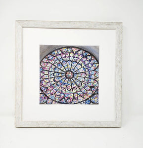 Notre Dame Cathedral, Paris print Rose Window Notre Dame painting print, Notre Dame Paris, Paris painting, Paris art print, stained glass - Leigh Barry Watercolors