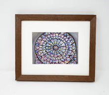 Load image into Gallery viewer, Notre Dame Cathedral, Paris print Rose Window Notre Dame painting print, Notre Dame Paris, Paris painting, Paris art print, stained glass - Leigh Barry Watercolors