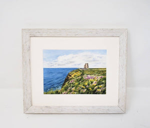 O'Brien's Tower Cliffs of Moher Ireland Painting giclee print or original watercolor Irish art Ireland landscape Ireland gift Irish gift - Leigh Barry Watercolors