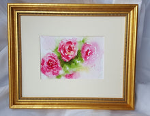 Load image into Gallery viewer, Roses: watercolor painting floral print floral painting framed art print wall decor wall art framed prints giclee print home decor archival