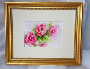 Roses: watercolor painting floral print floral painting framed art print wall decor wall art framed prints giclee print home decor archival