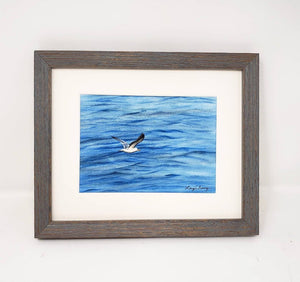 Seagull: Seagull Watercolor Print Or Original Painting Seabird painting Ocean Painting beach decor beach art beach painting Leigh Barry - Leigh Barry Watercolors