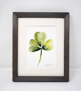 Shamrock Painting Watercolor Print Giclee Print Watercolor Framed Irish Print Irish Gift Ireland Art Celtic Art Print Shamrocks gift - Leigh Barry Watercolors