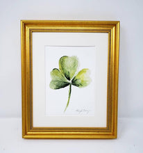 Load image into Gallery viewer, Shamrock Painting Watercolor Print Giclee Print Watercolor Framed Irish Print Irish Gift Ireland Art Celtic Art Print Shamrocks gift - Leigh Barry Watercolors