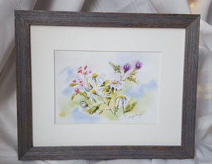 Summer Blooms: floral watercolor painting summer flowers home decor wall decor gift idea birthday gift settlement gift watercolor flowers - Leigh Barry Watercolors