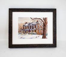 Load image into Gallery viewer, Snow Landscape painting winter landscape print framed wall print watercolor landscape Christmas art Leigh Barry Watercolors wall decor - Leigh Barry Watercolors