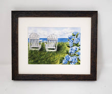 Load image into Gallery viewer, Nantucket Seaside: Nantucket Watercolor Print Or Original Painting Giclee Print Hydrangea Painting Hydrangeas art Cape Cod print seaside - Leigh Barry Watercolors