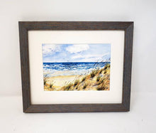 Load image into Gallery viewer, Windy Day: Beach Watercolor Giclee Print or Original Watercolor Beach Decor Ocean Dunes Painting Beach Decor Seashore Beach Dunes