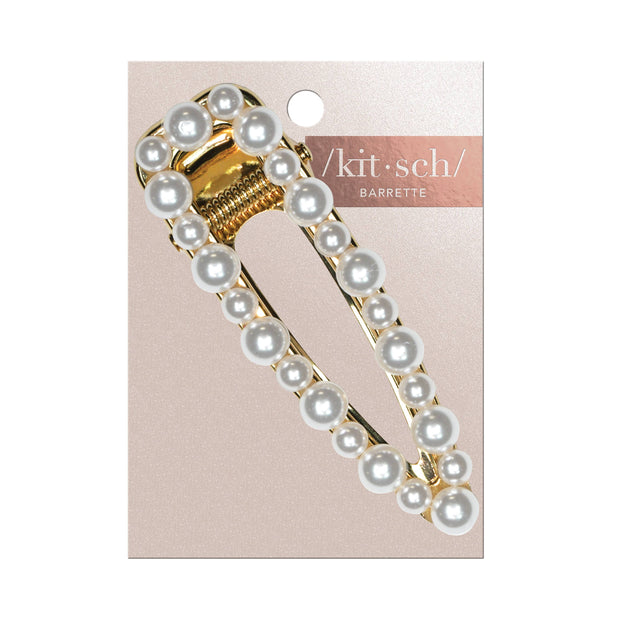 KITSCH - Open Shape Pearl Barrette