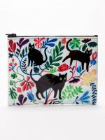 Blue Q Zipper Pouch | Here Kitty - Palencia's Market Street Boutique