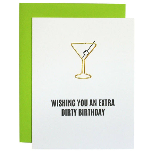 Chez Gagne | Extra Dirty Birthday Paper Clip Letterpress Card