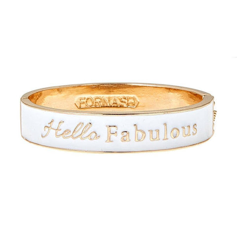 Fornash - White Hello Bracelet