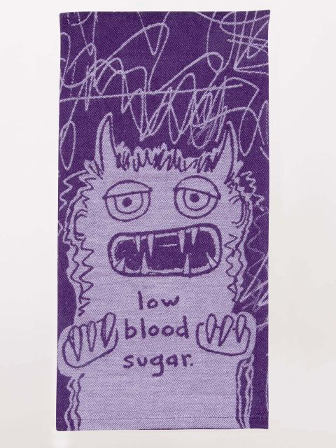 BLUE Q | Dish Towel | Low Blood Sugar