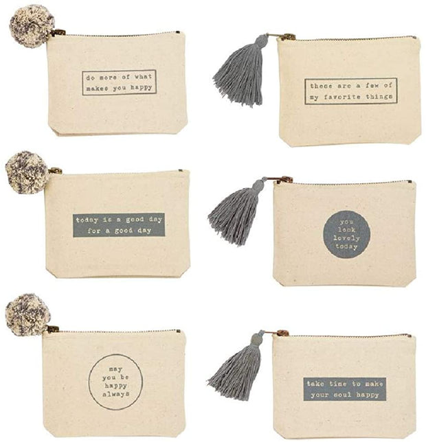 TAKE TIME HAPPY PHRASE POUCH