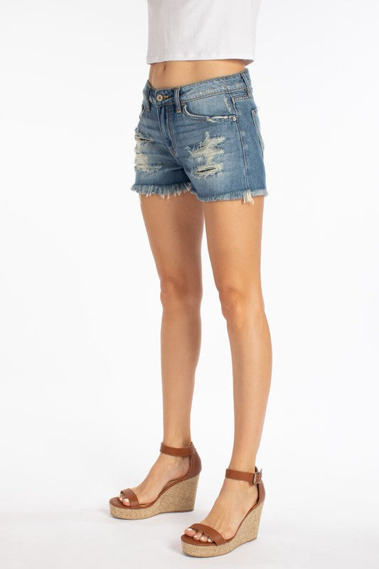 KanCan Distressed Cut-Off Shorts - Palencia's Market Street Boutique