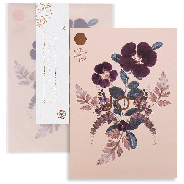 "PAPAYA - Greeting Card ""Plum Leaves"""