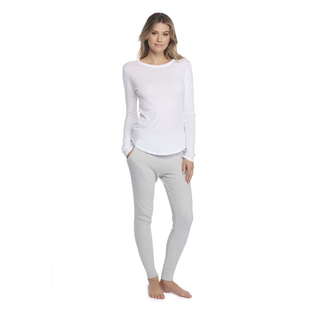 Barefoot Dreams MALIBU COLLECTION® WOMEN'S LONG SLEEVE LOOSE JERSEY CREW