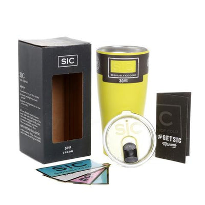 SIC Tumbler 30 oz. Matte Lemon Yellow - Palencia's Market Street Boutique