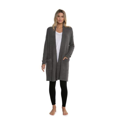 Barefoot Dreams CozyChic Lite Long Weekend Cardigan-Ash - Palencia's Market Street Boutique