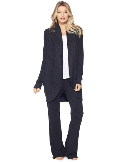 Barefoot Dreams CozyChic Lite Circle Cardigan-Black