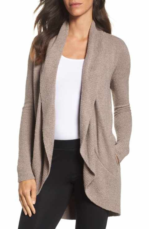 Barefoot Dreams CozyChic Lite Circle Cardigan - Taupe - Palencia's Market Street Boutique