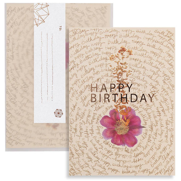 "PAPAYA - Greeting Card ""Birthday Script"""