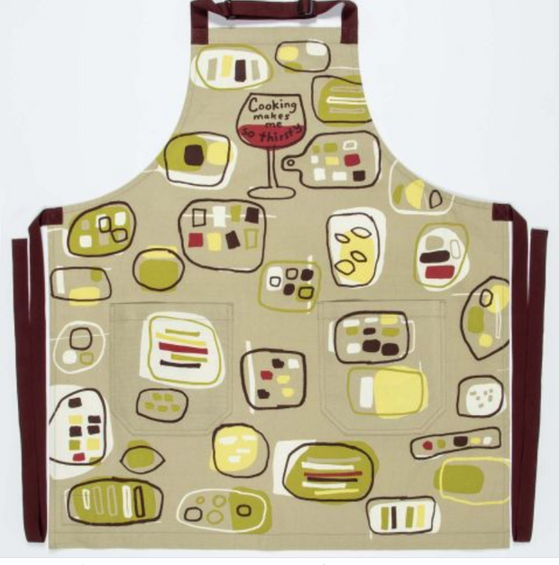 """Cooking Makes Me So Thirsty"" Apron - Palencia's Market Street Boutique"