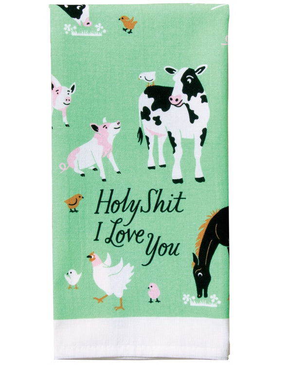 Blue Q- Dish Towel | Holy s@%t I love you - Palencia's Market Street Boutique