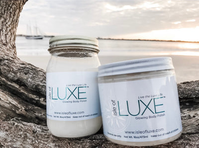 Isle of Luxe Glowing Body Polish - Glass Jar - Palencia's Market Street Boutique