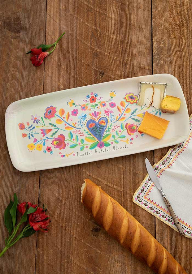 Thankful/Grateful Melamine Tray - Palencia's Market Street Boutique