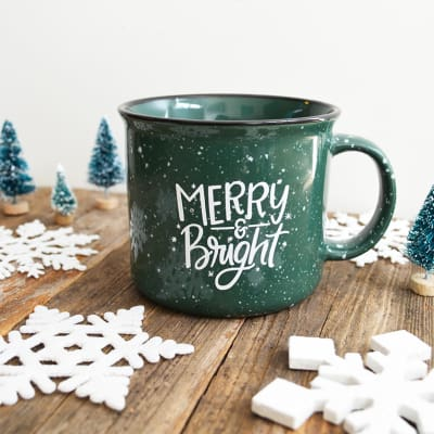 Holiday Mug- Merry & Bright - Palencia's Market Street Boutique