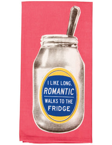 Blue Q- Dish Towel | Romantic walks to fridge - Palencia's Market Street Boutique